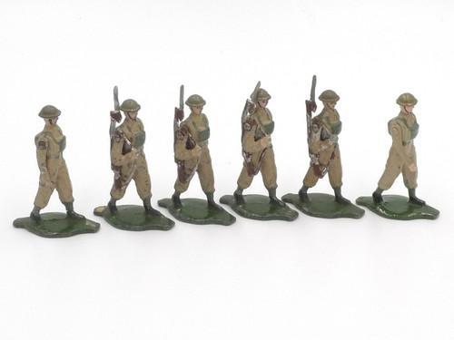 Comet Toy Soldiers British Infantry Steel Helmet Marching
