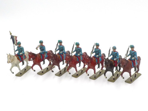 CBG Mignot Toy Soldiers French Light Cavalry Mounted Chasseur