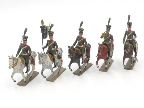 CBG Mignot Toy Soldiers French Cavalry Napoleonic Mounted with Shako Headdress