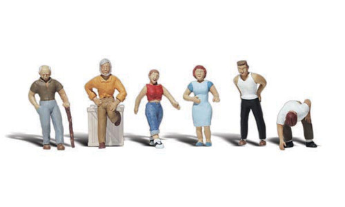 Woodland Scenics 2124 Ordinary People N Scale Train Figures