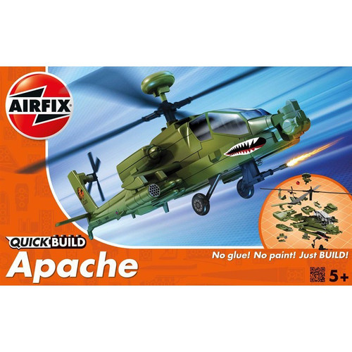 Airfix J6004 Apache Quickbuild Helicopter Plastic Model Kit