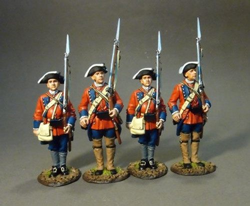 60th (Royal American), Rgt. of Foot 4 Line Inf. Set 1 4 pc