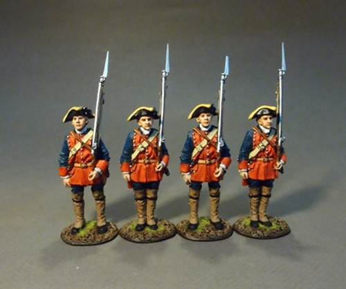 New Jersey Provincial Rgt. Line Inf. At Attention, #2 4pc