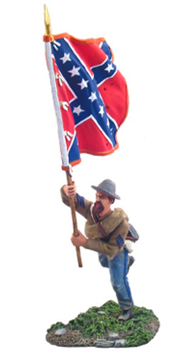 WBritain 31042 Confederate Infantry Flagbearer Charging No.1