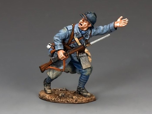 """King & Country FW155 """"Lets Go"""" French Infantry Advancing"""