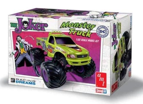 AMT Plastic Model Kit AMT 941 The Joker Monster Truck 1/32 Snap Fit Plastic Model Car Kit