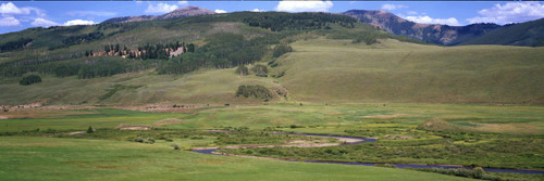 """Images Of The Land ShelfScapes #962 Big Valley 10"""" x 30"""" Scenic Backdrop"""