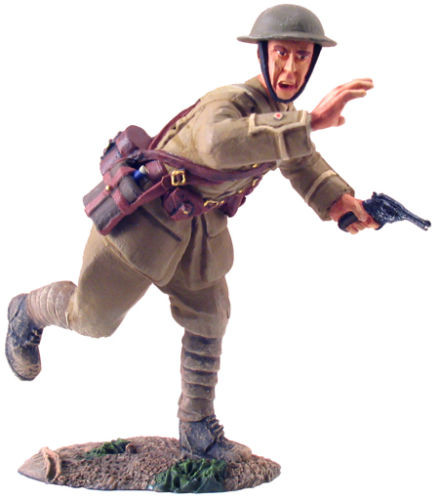 WBritian 23017 1916 British Infantry Officer Advancing No. 1