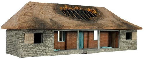 WBritain 51029 Rorke's Drift Hospital Version No.2, with Burned out Roof - 1 Piece Set