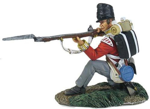 British 44th Foot Light Company Kneeling Firing - 1 Piece Set in Clamshell Pack