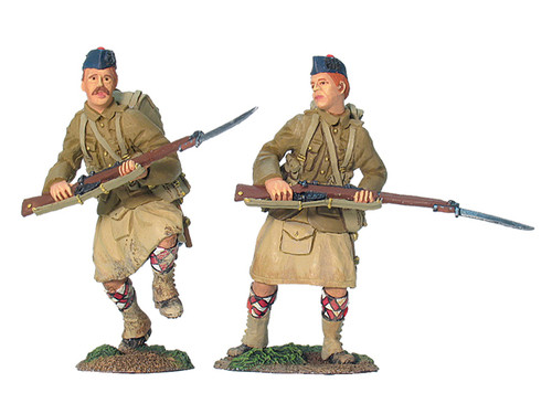 British 42nd Black Watch Highlanders Advancing - 2 Piece Set