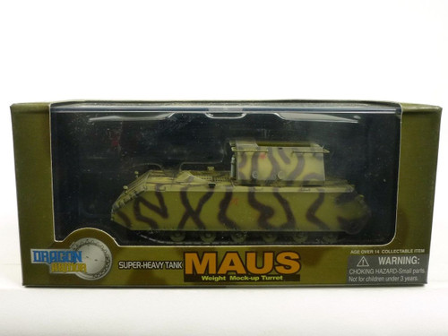 Dragon Armor 60157 Maus Weight Mock-Up Turret Camouflage 1/72 Diecast Model