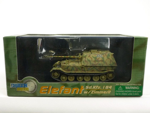 Dragon Armor 60123 Elefant Sd.Kfz. I184 With Zimmerit 1/72 Diecast Model
