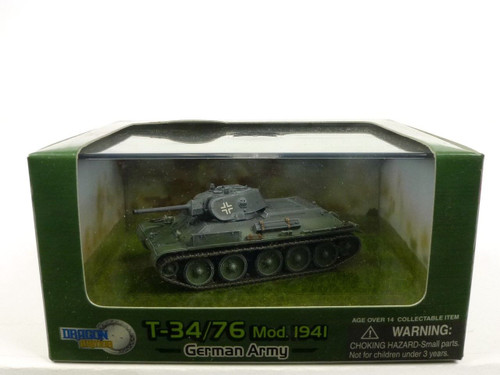 Dragon Armor 60151 Captured T34/76 Mod 1941 German Army 1/72 Scale Diecast Model