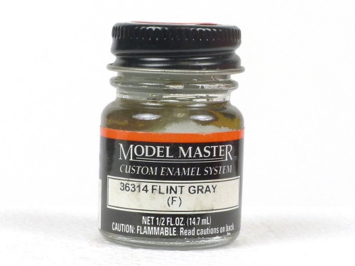 Testors Model Master 2037 Flint Gray 1/2 Oz  Bottle Of Enamel Paint