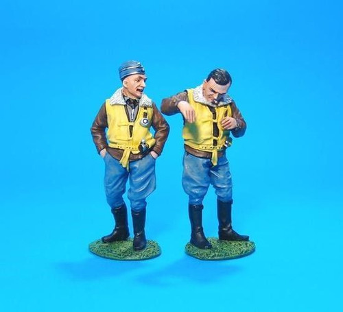 John Jenkins Designs Soldiers ACE-201P WWII Josef Priller And Wingman 1/30 Scale
