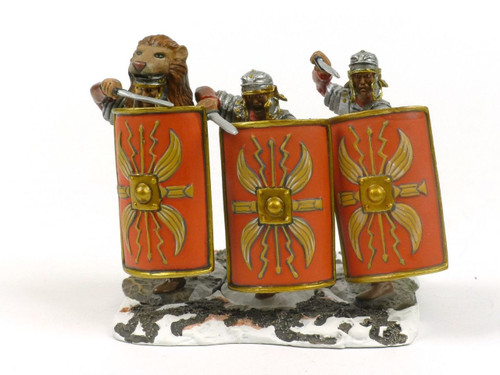 Conte Collectibles Toy Soldiers ROME-009 Rome At War Shield Wall Set No 1