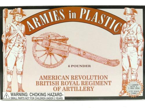 Armies In Plastic American Revolution Royal Regiment Of Artillery 6 Pieces 5479