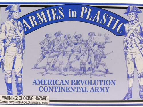 Armies in Plastic 5464 Continental Army Toy Soldiers 1/32 Scale