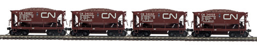 MTH HO 80-90084 4-Car 70-Ton Center Discharge Ore Car Set