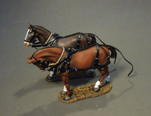 John Jenkins The Great War GWB-17 Supply Wagon, Horses 2 pcs