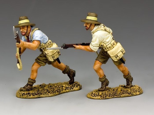 King & Country Toy Soldiers GA004 ANZACS Charging Forward