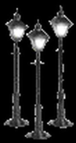 MTH Trains 30-1079 O Gauge Black Lamps/Square
