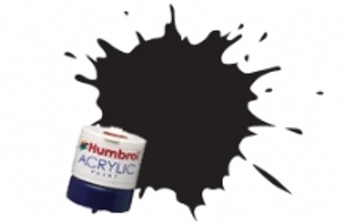 Humbrol set Acrylic Paint 21 Black Gloss  AB0021