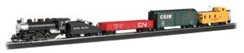 Bachmann Trains 00692 HO Scale Pacific Flyer Freight Set/UP 0-6-0