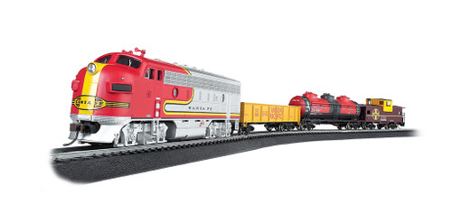 Bachmann Trains 00740 HO Scale SF Canyon Chief Freight Set/F7A Diesel