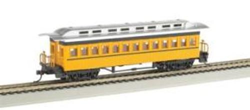 Bachmann Trains 13403 HO Scale 1880's Coach/Unlttrd/yel