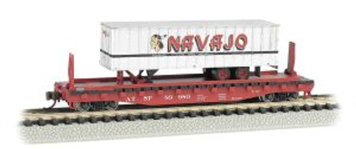 Bachmann Trains 16751 N Scale 52' Flat SF w/35' Navajo Trailer