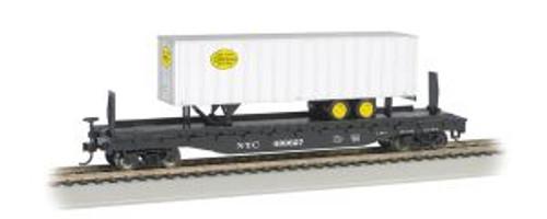 Bachmann Trains 16703 HO Scale 52' Flat NYC w/35' NYC Trailer
