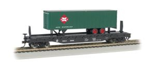 Bachmann trains 16702 HO Scale 52' Flat B&O w/35' REA Trailer