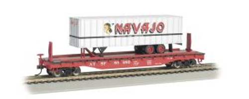 Bachmann Trains 16701 HO Scale 52' Flat SF w//35' Navajo Trailer
