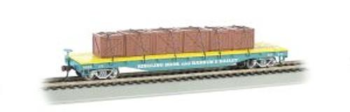 Bachmann Trains 16606 HO Scale RINGLING/Flatcar w/Crate Load #122/blu