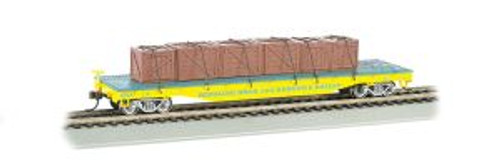Bachmann Trains 16605 HO Scale RINGLING/Flatcar w/Crate Load #119/yel