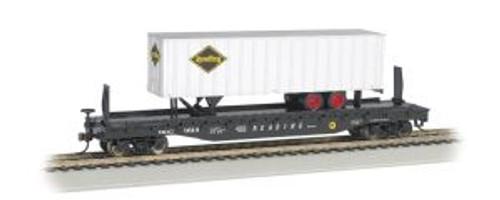 Bachmann Trains 16704 HO 52' Flat RDG w/35' RDG Trailer