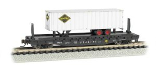 Bachmann Trains 16754 N Scale 52' Flat RDG w/35' RDG Trailer