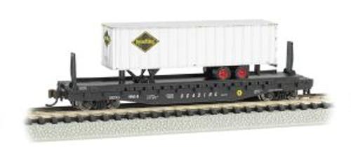 Bachmann Trains 16754 N Scale 52' Flat RDG w/35' RDG Trailer