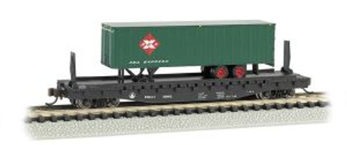 Bachmann Trains 16752 N Scale 52' Flat B&O w/35' REA Trailer