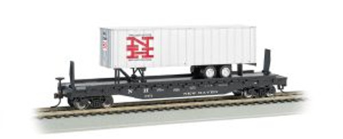 Bachmann Trains 16707 HO Scale 52' Flat NH w/35' NH Trailer