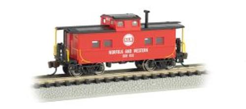 Bachmann Trains 16855 N Scale NE Steel Caboose N&W/red