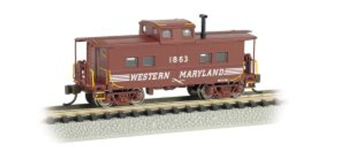 Bachmann Trains 16859 N NE Steel Caboose WM #1863/Speed Letter