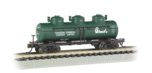 Bachmann Trains 17152 N Scale 40' Triple Dome Tank Car Chemcell