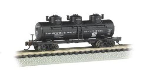 Bachmann Trains 17151 N Scale 40' Triple Dome Tank Car Philadelphia Quartz