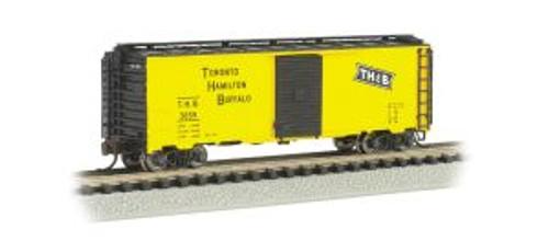 Bachmann Tains 17055 N Scale 40' Boxcar TH&B/yel&blk