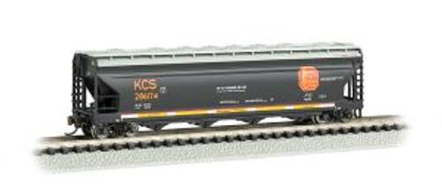Bachmann Trains 17553 N Scale 56' 4-Bay Cvd.Hopper KCS
