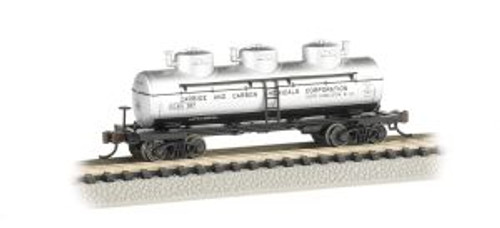 Bachmann Trains 17155 N Scale 40' Triple Dome Tank Car Carbide & Carbon Chemicals