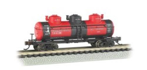 Bachmann Trains 17154 N Scale 40' Triple Dome Tank Car Transcontinental Oil